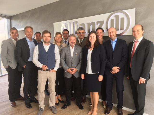 Führungskreisteam Geschäftsstelle Weilheim mit Besuch Vorstand Hr. Heinle