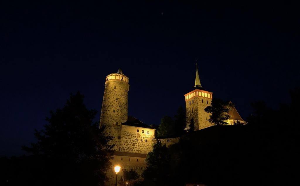 Bautzen bei Nacht - Die alte Wasserkunst