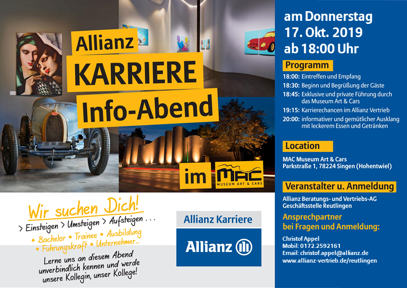 Flyer Bild Info Abend Allianz Job