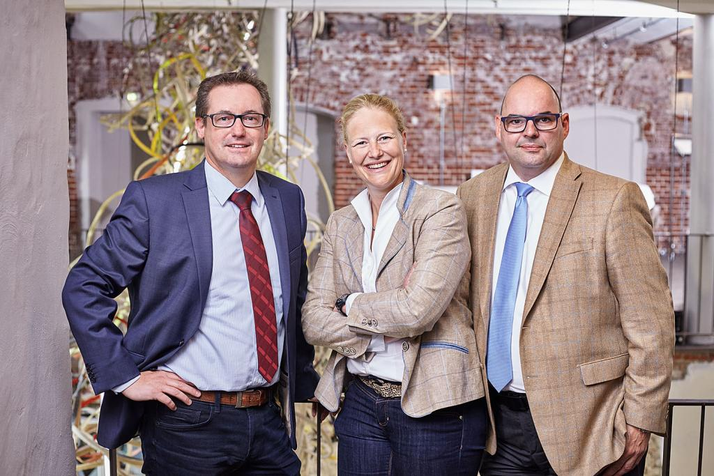 Allianz Geschäftsstelle Münster: Mike Westhoff, Christine Maas-Koschig, Markus Overbeck (v.l.n.r.)