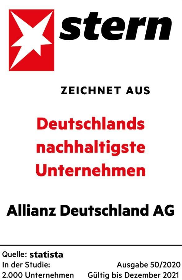 Schon gewusst? Wir gehören zu den nachhaltigsten Unternehmen Deutschlands