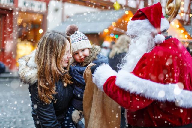 Kind und Nikolaus