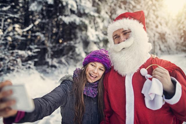 Selfie mit Nikolaus