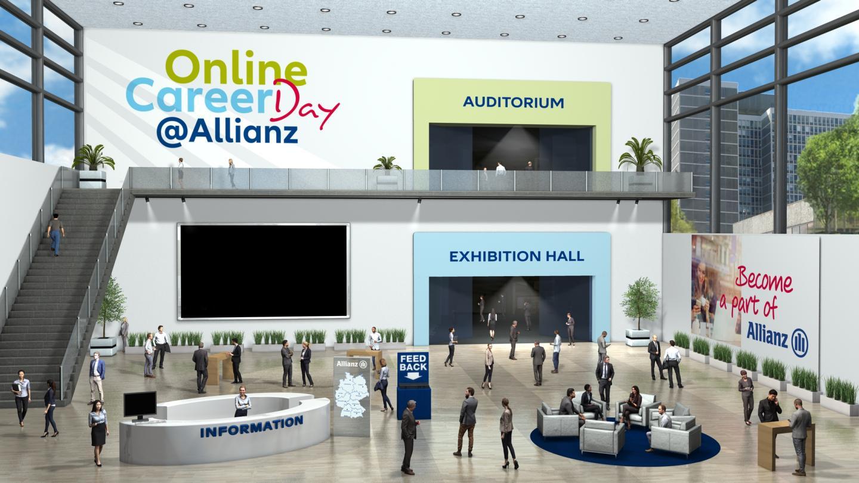 virtueller Messestand der Allianz Jobmesse