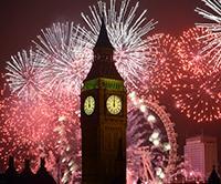 Neujahr in London