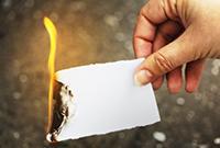 Papier verbrennen